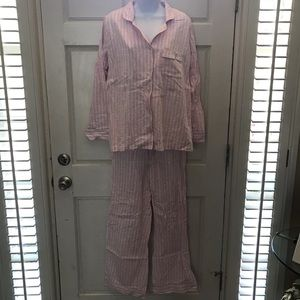 Victoria's Secret pink, white & silver PJ set